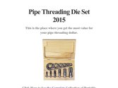 Pipe Threading Die Set 2015