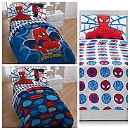 Marvel Spiderman 4 Piece Twin Bed in a Bag Bedding Set - Reversible Comforter, Sheet Set and Pillow Case