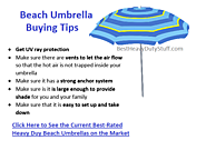 best heavy duty beach umbrella - Best Heavy Duty Stuff