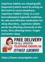 Zopiclone Tablets short term treatment falling asleep