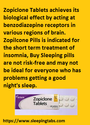 Sleeping pills indicated short term treatment of insomnia