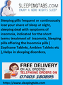 Sleeping pills Indicated short terms treatment of Insomnia