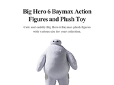 Big Hero 6 Baymax Action Figures and Plush Toy