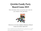 Qwirkle Family Party Board Game 2015