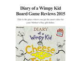 Diary of a Wimpy Kid Board Game Reviews 2015