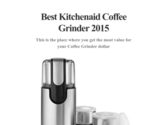 Best Kitchenaid Coffee Grinder 2015