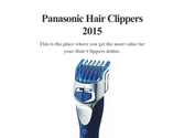 Panasonic Hair Clippers 2015