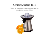 Orange Juicers 2015