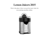 Lemon Juicers 2015