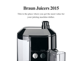 Braun Juicers 2015