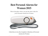 Best Personal Alarms for Women 2015