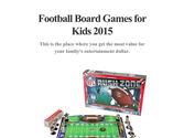 Football Board Games for Kids 2015