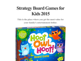 Strategy Board Games for Kids 2015