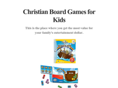 Christian Board Games for Kids