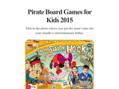 Pirate Board Games for Kids 2015