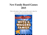 New Family Board Games 2015