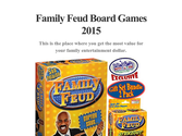 Family Feud Board Games 2015