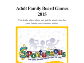 Adult Family Board Games 2015