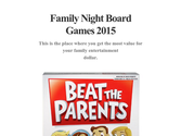 Family Night Board Games 2015