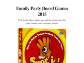 Family Party Board Games 2015