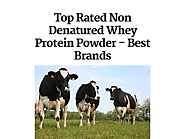 Top Rated Non Denatured Whey Protein Powder - Best Brands