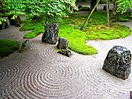 Japanese Sand Garden Design for Relaxing Appearance