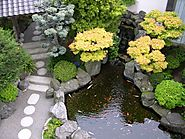 Attract Children with Japanese Pond Garden Design