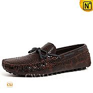 CWMALLS® Designer Patent Driving Moccasins CW707011
