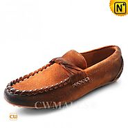CWMALLS® Designer Suede Penny Loafers CW707015