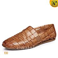 CWMALLS® Mens Designer Leather Slip-on Shoes CW716408