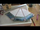 The making of a stained glass lamp