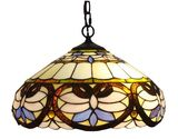 Amora Lighting AM1062HL16 Tiffany Style Ceiling Pendant Hanging Lamps, 16-Inch