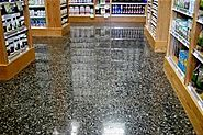 Concrete Grinding Giving Shiny Polished Concrete