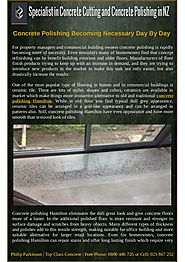 Why Concrete Polishing Becoming Necessary?
