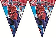 Spiderman Party Flag Banner