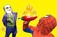 Spiderman cartoon, Spideman vs Joker, Hot Powder, Real Life Superhero Battle Fun