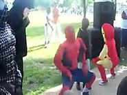 Spiderman & friends get loose at a Kids birthday party
