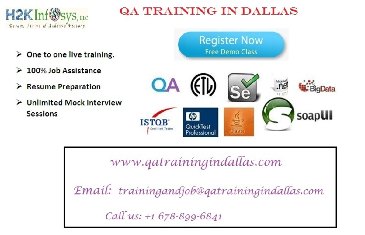 Headline for QA Training in Dallas-Powered by H2KInfosys