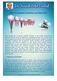 How to The Cosmetic Dentistry can Help You