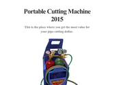Portable Cutting Machine 2015