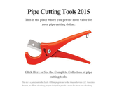 Pipe Cutting Tools 2015