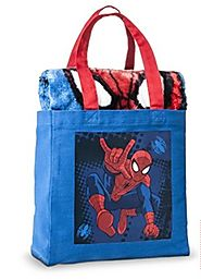 SPIDERMAN Throw-in-a-Bag Gift Set - Spiderman Throw and Tote Set