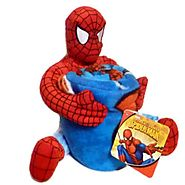 Marvel Spiderman Plush Pillow & Throw Gift Set