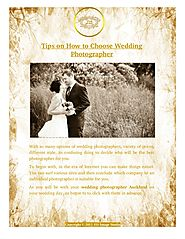 How to Choose Wedding Photographer