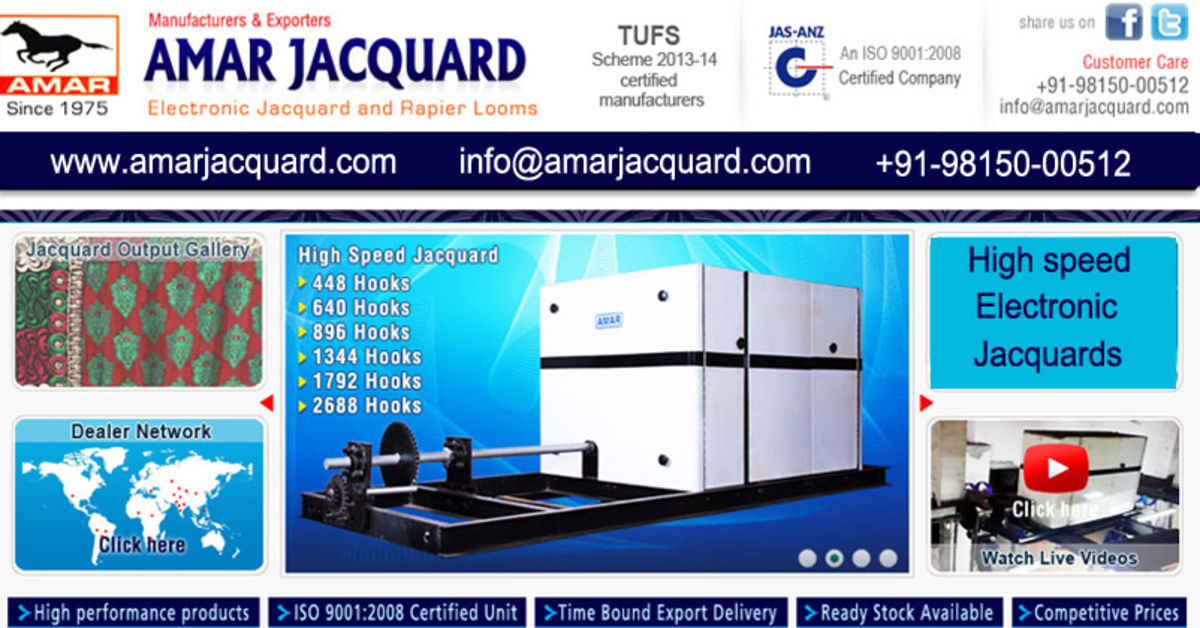 Headline for High Speed Electronic jacquard machine manufacturers suppliers exporters in india, punjab, ludhiana