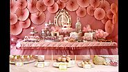 Baby girl birthday party themes decorations at home