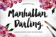 Manhattan Darling Typeface + BONUS