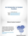 Introduction to Content Curation