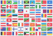 195 flat flag PSD icons