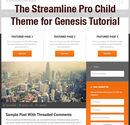 The Streamline Pro Child Theme for Genesis Tutorial